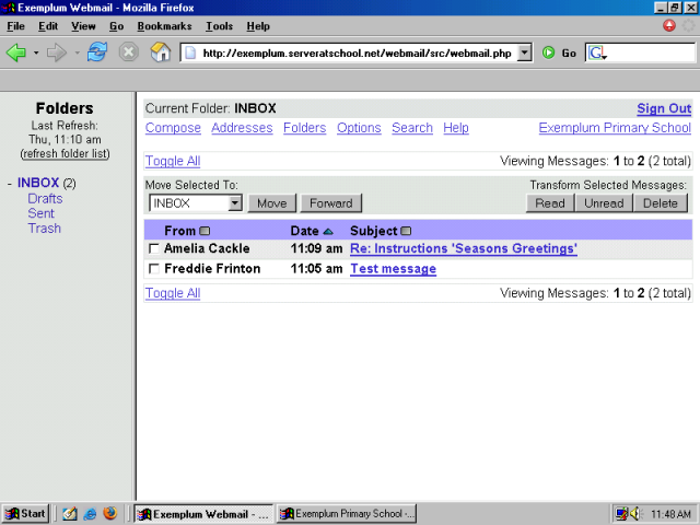 1email Seen Contact Usco Ltd Mail: XIII. Webmail With Squirrelmail